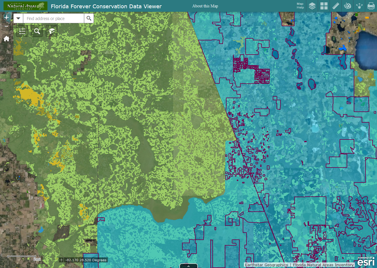 Floridas Map.Florida Natural Areas Inventory